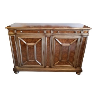 Traditional Theodore Alexander Eglomise Console Cabinet For Sale