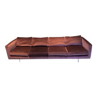 Harvey Probber Even Arm Tuxedo Down Filled Couch / Sofa For Sale