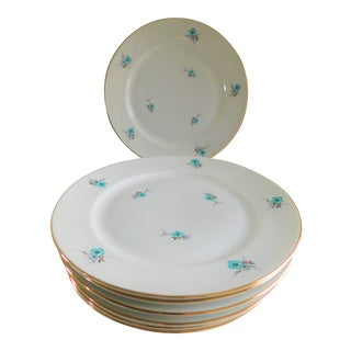 Blue Forget-Me-Not Thomas Germany Porcelain Salad/Dessert Plates - Set of 8 For Sale