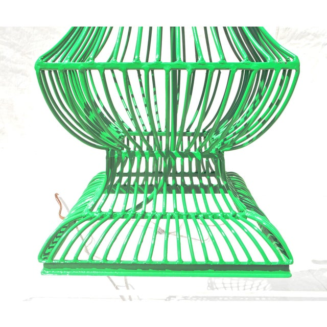 Birdcage Form Lamp in Kelly Green - Image 7 of 8