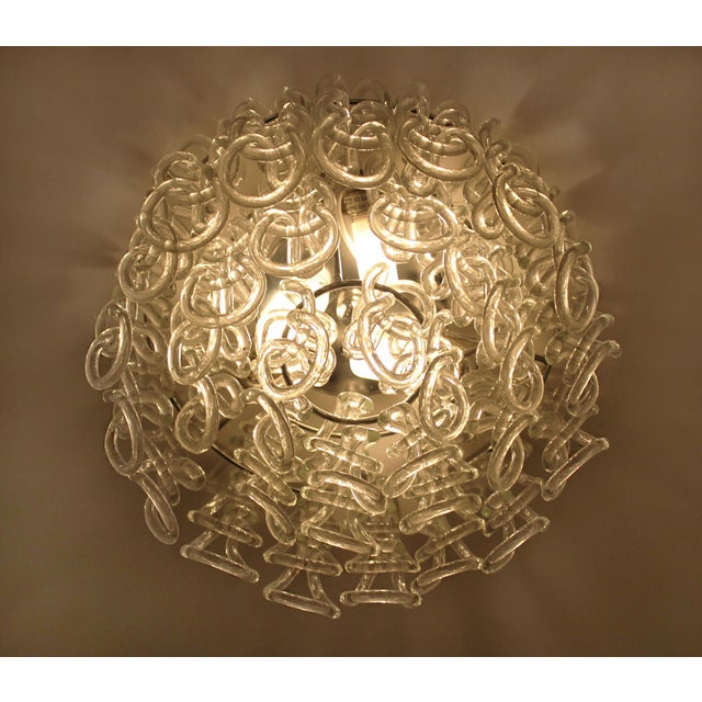Set of Four Modern Italian Crystal Ceiling Lights For Sale - Image 4 of 5