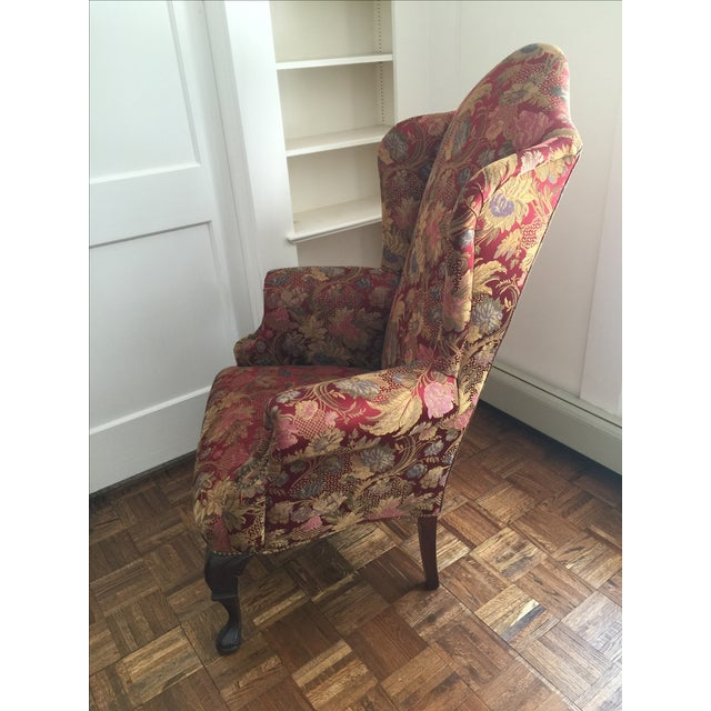 Antique Wingback Chair - Image 6 of 7
