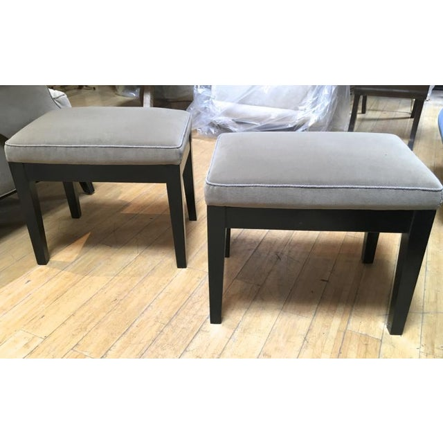 Jean Michel Frank Adolphe Chanaux Style of Jean Michel Frank Pair of Stools For Sale - Image 4 of 6