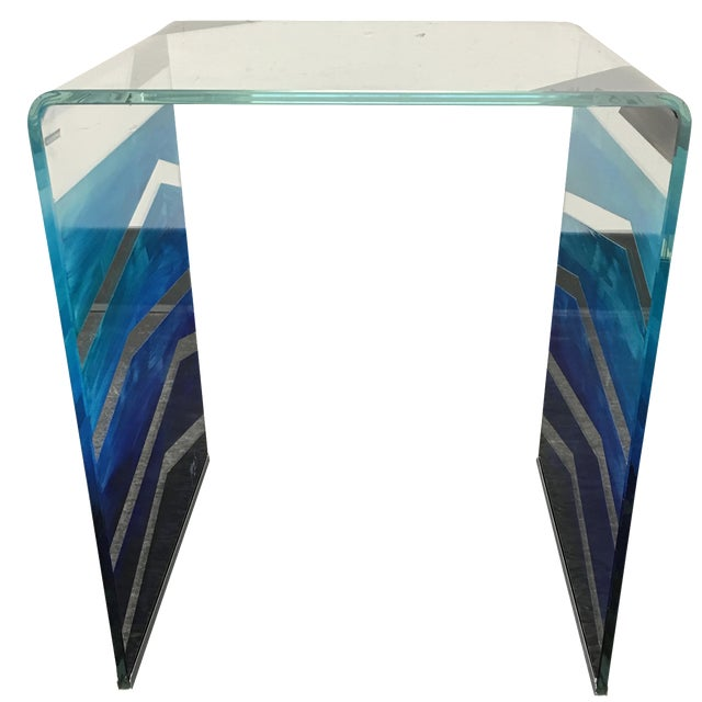 "Tony Sosa for Glassisimo ""Ocean Feel"" Side Table For Sale"