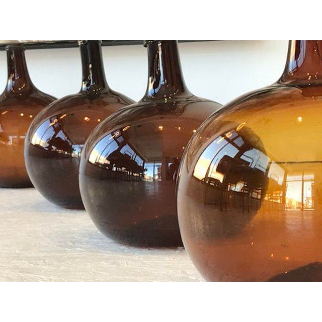 Folk Art Hand-Blown Glass French Wine Vessels For Sale - Image 3 of 4