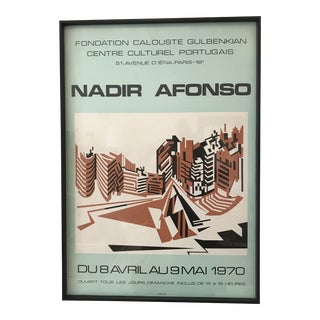 1970s Vintage Nadir Afonso Poster Print For Sale
