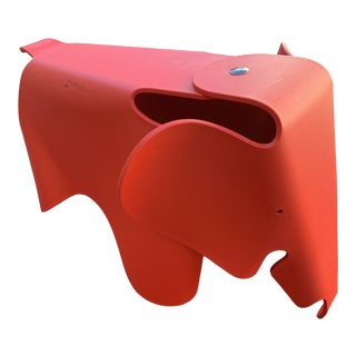 Modern Red Eames Elephant Stool For Sale