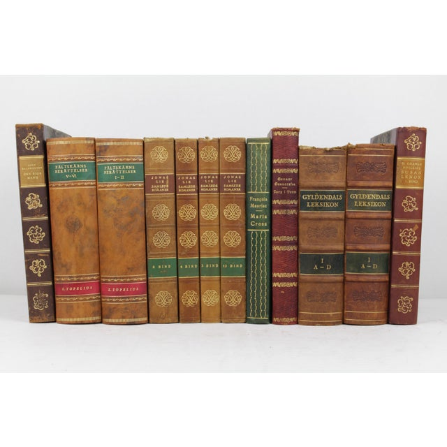 Art Deco Leather-Bound Books - Set of 12 - Image 2 of 4