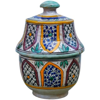 Ceramic Box W/Moorish Design For Sale
