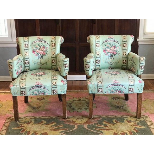 1980s Vintage Lee Jofa Hollywood Regency Armchairs - a Pair For Sale - Image 12 of 12