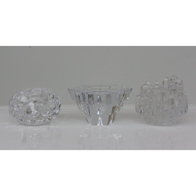 Traditional Vintage Crystal Candle Holders - Set of 3 For Sale - Image 3 of 8
