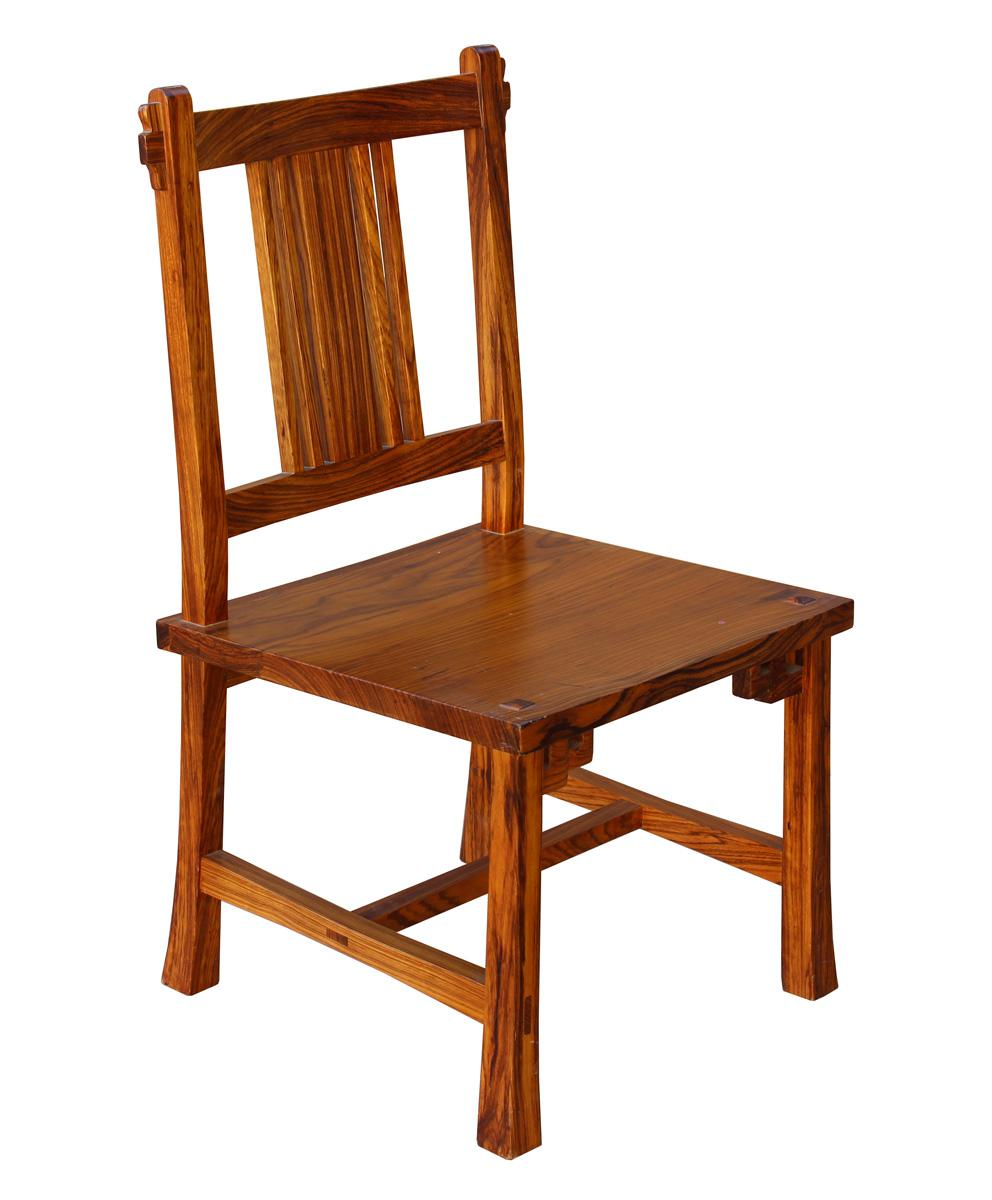 Exceptionnel Handmade Solid Zebra Wood Bar Chair   Image 3 Of 6