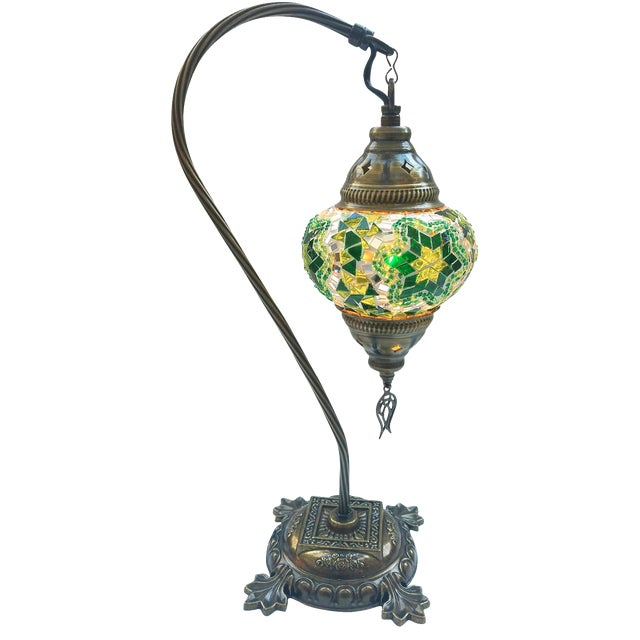 Star of David Mosaic Pendant Table Lamp - Image 1 of 5