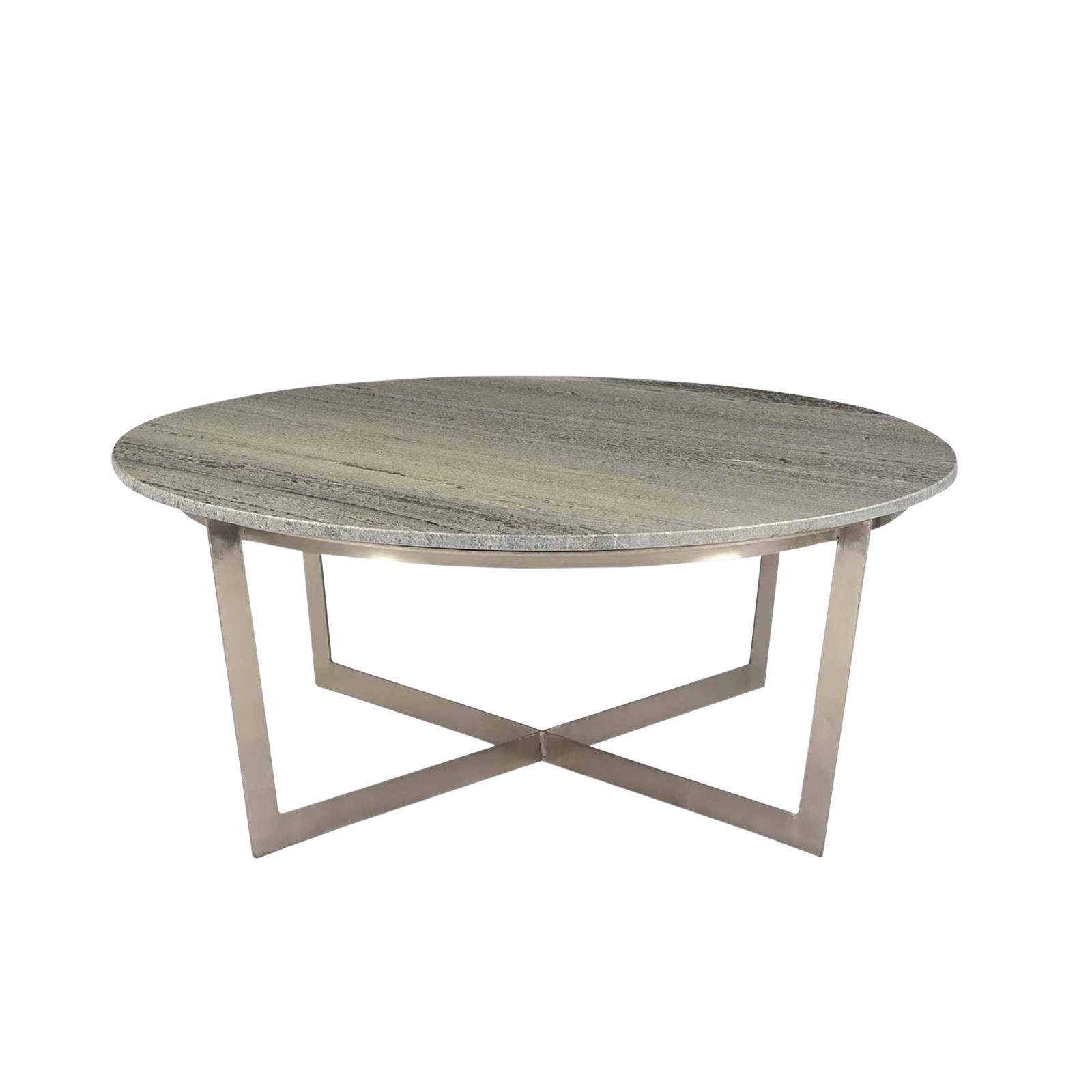 Round Grey Marble Coffee Table