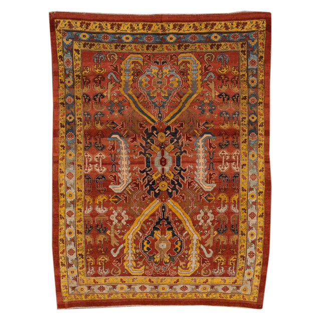 "Vintage Persian Tribal Bakshaish Rug, 7'6"" X 10'5"" For Sale - Image 10 of 10"