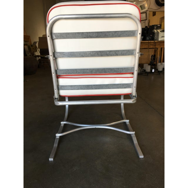 Mid-Century Aluminum Springer Rocking Chair For Sale In Los Angeles - Image 6 of 7