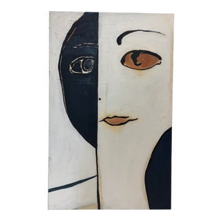"""""""Midsummers Night Iii"""" Painting on Canvas Ambiguous Face For Sale"""
