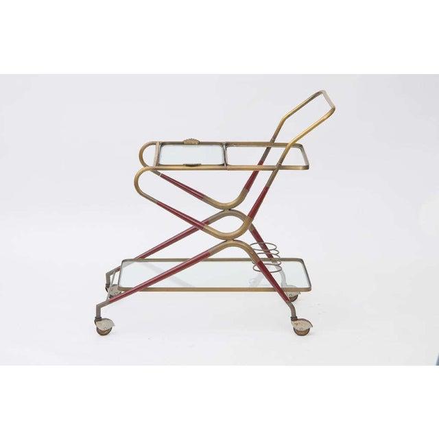 Italian Cesare Lacca Italian Bar Cart For Sale - Image 3 of 10