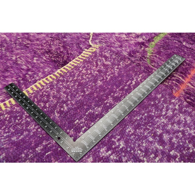 2010s Purple Berber Contemporary Moroccan Rug - 06'10 X 10'00 For Sale - Image 5 of 10