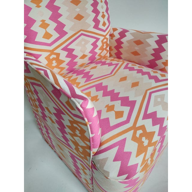 1920s Bright Geometric Arm Chairs - a Pair For Sale - Image 4 of 11