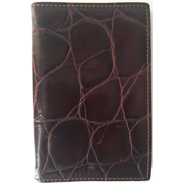 Vintage Italian Alligator Leather Address Book - Image 2 of 6