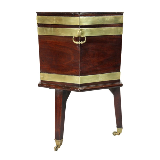 George III Mahogany and Brass Mounted Celleret For Sale - Image 9 of 11