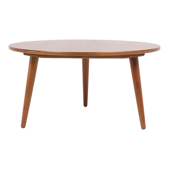 Hans Wegner Three-Legged Teak Coffee Table for Andreas Tuck For Sale