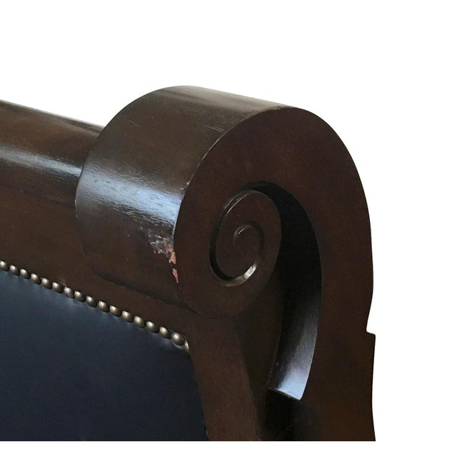 1830s Empire Sofa, Solid Mahogany & Leather - Image 5 of 5