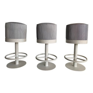 1980s Iron Counter Stools - Set of 3 For Sale
