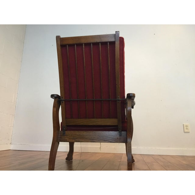 Antique Tiger Oak Morris Reclining Chair - Image 4 of 11 - Antique Tiger Oak Morris Reclining Chair Chairish