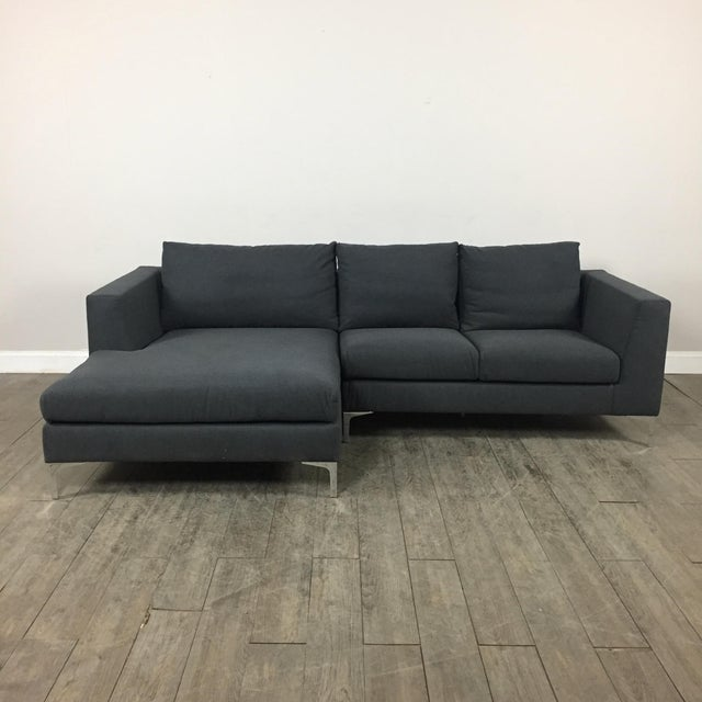 Modern Gray Left Chaise Sectional Sofa - Image 2 of 8