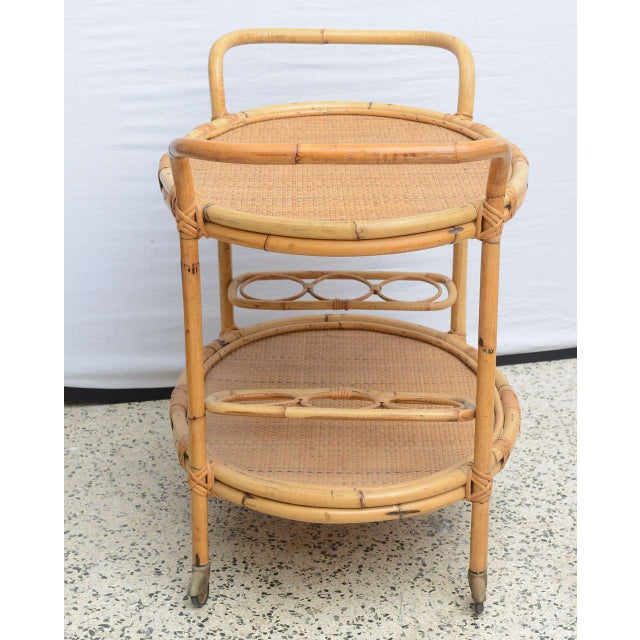 Bamboo Bar Cart, Usa 1965 For Sale - Image 4 of 10