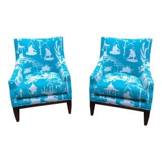 Lee Jofa Fireside Chairs - a Pair For Sale