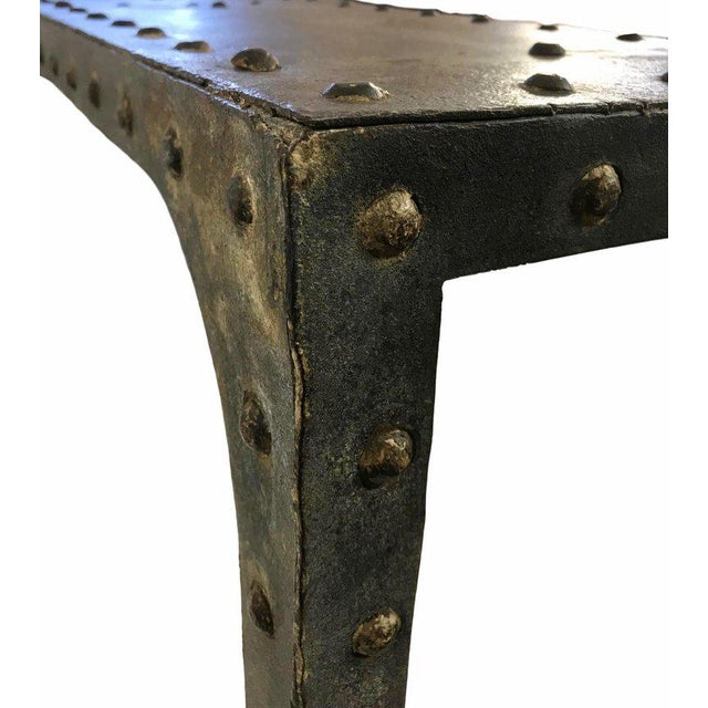Mid 20th Century 20th Century Industrial Riveted Console For Sale - Image 5 of 10