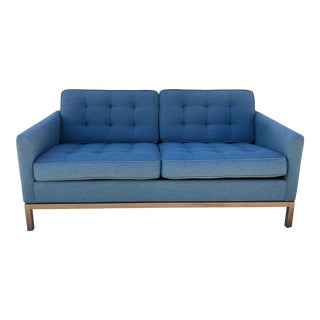 1980s Vintage Two Seat Florence Knoll Sofa For Sale