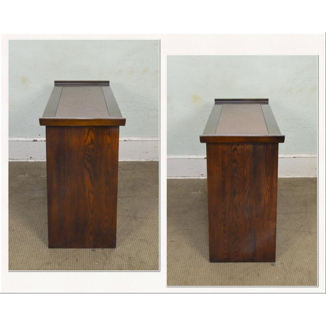 *STORE ITEM #: 18309 Bernhardt Flair Division Asian Inspired Console Server Cabinet AGE / ORIGIN: Approx. 35 years,...