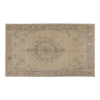 1960s Heritage Oushak Beige Area Rug- 5'5'' X 8'10'' For Sale