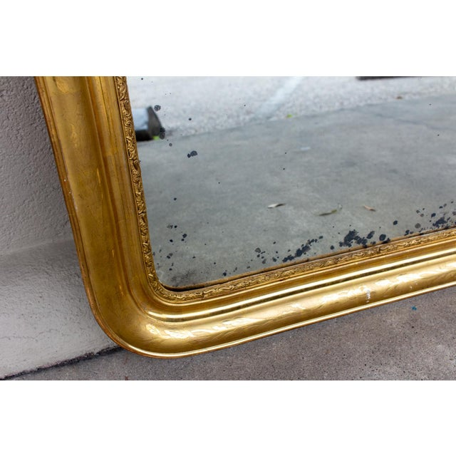 Antique French Gilt Louis Philippe Mirror, Late 19th Century For Sale In Houston - Image 6 of 13