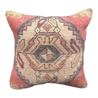 1960's Turkish Tribal Handwoven Oushak Pillow For Sale