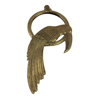 Cast Brass Toucan Mirror For Sale