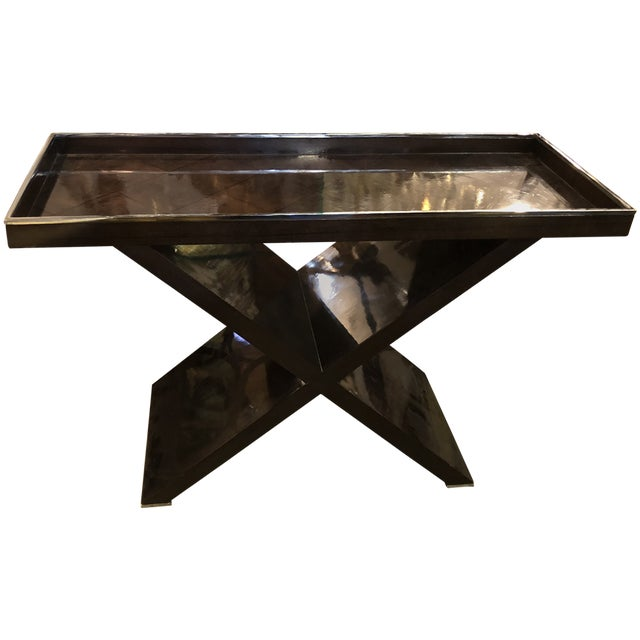 Modern Tray Top Console Table For Sale In Los Angeles - Image 6 of 6