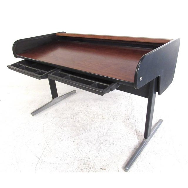 George Nelson for Herman Miller Mid-Century Tambour Roll-Top Desk - Image 3 of 9