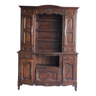 Antique French Provincial Hutch China Cabinet For Sale
