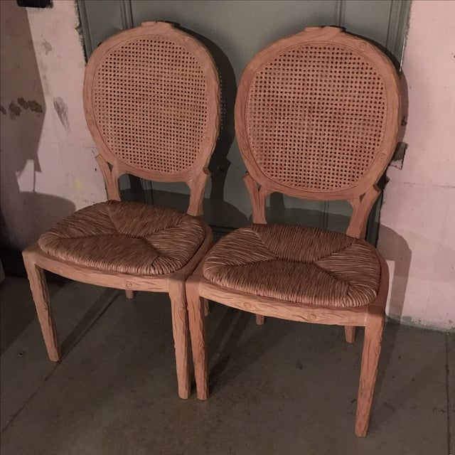 Faux Bois Dining Chairs - Pair For Sale In New York - Image 6 of 10