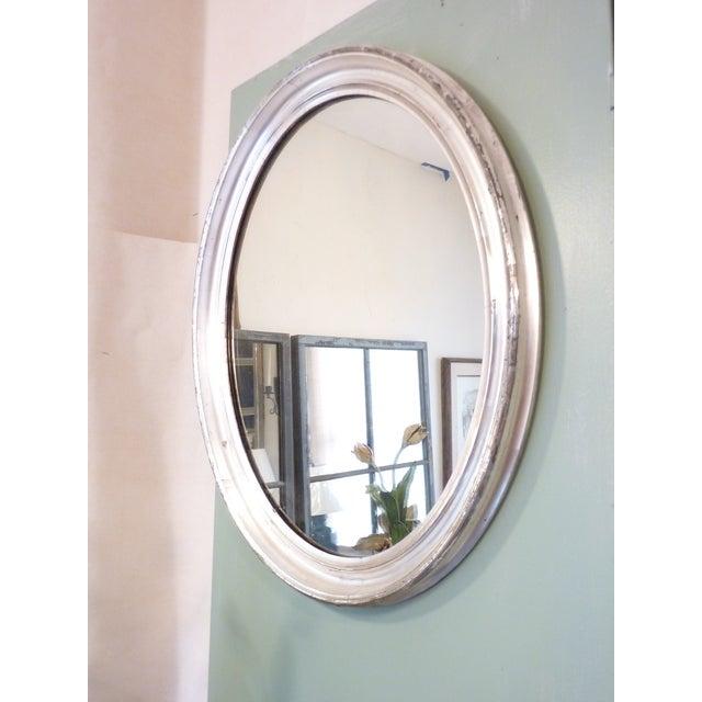 Oval Silverleaf Mirror - Image 4 of 4