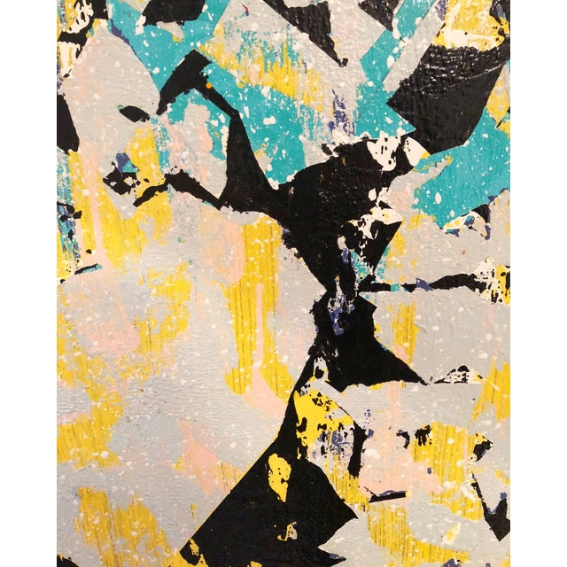 Abstract Untitled Abstract Acrylic Painting For Sale - Image 3 of 4