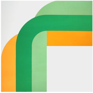 """""""Right Angle"""" Bold Large-scale Vintage 1970s Supergraphic"""