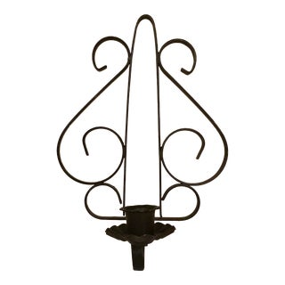 Vintage Wrought Iron Wall Sconce For Sale