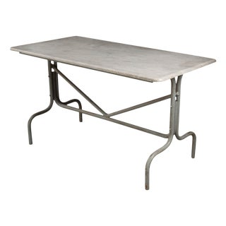 French Vintage Industrial-Style Bistro Table For Sale
