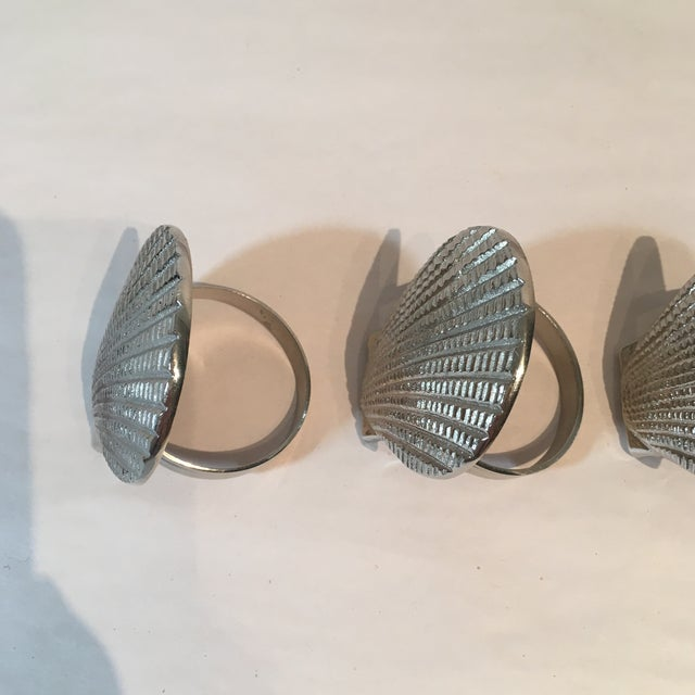 Silver Metal Shell Napkin Rings - Set of 8 - Image 6 of 6